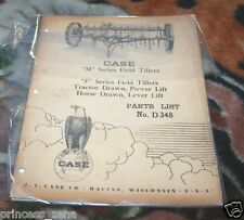 Case M & F Series Field Tillers Parts Catalog Manual Tractor & Horse Drawn D348