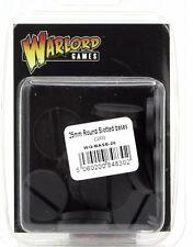 Warlord Games WG-BASE-20 25mm Round Slotted Bases (20) Black Plastic Generic NIB