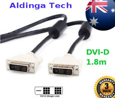 1.8m DVI-D Male to Male Extension PC Monitor LCD Cable