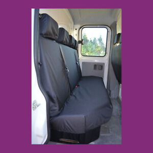 Mercedes-Benz Sprinter 2018+ Tailored Waterproof Black Rear Quad Seat Covers
