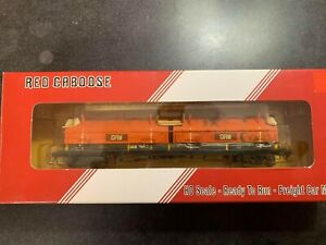 HO scale red caboose weathered Gary railway ex EJ&E coil car roadnumber 7043