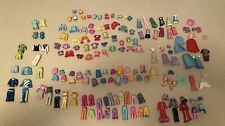 HUGE Lot of Polly Pocket clothing, accessories - fairy, mermaid, princess sets