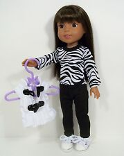 """3pc Zebra SHIRT Pants VEST Doll Clothes For 14"""" AG Wellie Wisher Wishers (Debs)"""