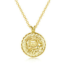 Sundance Gold Sun Coin Chain Necklace in 18K Gold Plated Adjustable Chain