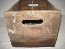 OLD WOOD-WOODEN WENNERS BEVERAGE SODA BEER CRATE BOX ADVERTISING
