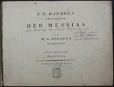MOZART: Orchestration of Handel's Messiah 1st Printing