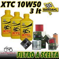 3 Litri OLIO Bardhal Xtc C60 10w50 Olio Moto 4T Full Sintetico + Filtro HiFlo