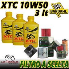 3 litres oil bardhal XTC c60 10w50 oil moto 4t Full Synthetic + Filter hiflo