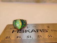 Brazillian Green Opal Ladies Art Deco Ring 6.5  NWT $300 Silver 925 FLASH!