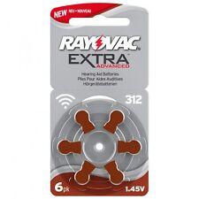 30 Hörgerätebatterien Rayovac Typ 312 Extra Adv., Mercury Free, Neue Verpackung