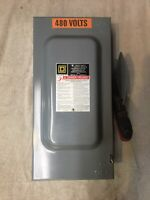 Square D HU362 Heavy Duty Safety Switch 60 Amp 600Vac