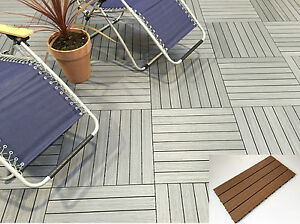 Wood Composite Decking Tiles - No Staining - Easy Lay - Easy Clean - DIY