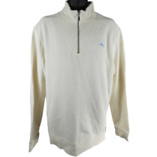 Tommy Bahama Relax Cream Long Sleeve Sweater Men's Size XL
