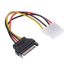 4 Pcs SATA 15-Pin Male to 4-Pin Female IDE Power Cable PCI-E 1X to 16X