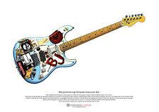 Billie-Joe Armstrong's Fernandes Stratocaster 'Blue' ART POSTER A3 size