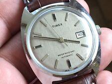 Vintage 1975 Timex Viscount Series D Auto Mechanic Men's Watch Service New Strap
