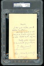 Jules Massenet Autograph Letter Signed ALS PSA/DNA Rehearsal French Composer