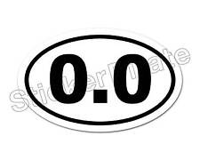 * Oval Euro Car Magnet 0.0 Marathon Runner Don't Run Magnetic Bumper Sticker