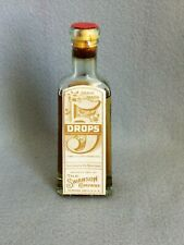 Vtg Apothecary Medicine 5 Drops Swanson Rheumatic Cure Embossed Bottle 1920