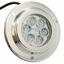 12V/24V 6*2W Surface Mount Marine LED Underwater Light White Stainless IP68