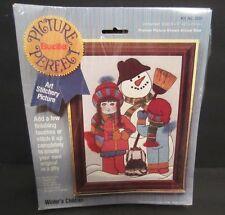 """Bucilla Cross Stitch Kit #2001 Winters Children 5""""X7"""" Picture Perfect"""