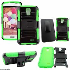 Quick-Reach Belt Clip Holster Phone Case For LG F70 Access Green Black Cover