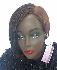 Short One Sided Braided Wig. Made with Premium Synthetic Hair.