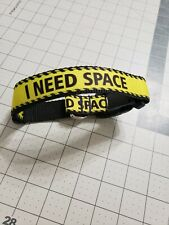 "Omies Custom Themed ""I Need Space"" Safety Dog Collar Medium 12""-19"" Made in USA!"