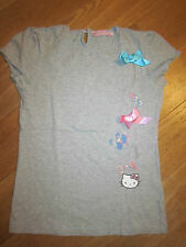 Tee-Shirt MC Gris Sérigraphie&Strass HELLO KITTY By VICTORIA COUTURE - 14 A *TBE