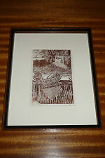 Alan Witschonke, AP artist's proof signed wood cut, 1975, Mexican Western motif