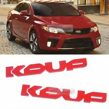 Side Front Trunk Mini Emblem Point Logo Badge Red for KIA 2010 - 2013 Forte Koup