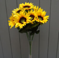 Artificial Sunflowers Bush - 7 Yellow Sunflower Heads