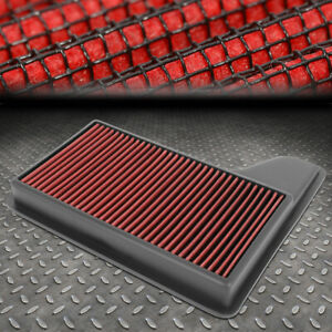 FOR 15-19 FORD MUSTANG 2.3/3.7/5.0L WASHABLE DROP-IN AIR FILTER INTAKE PANEL RED
