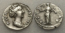 AC#SD Ancient Roman Empire Diva Faustina I Denarius Silver Coin AD 161 3.7g 17mm