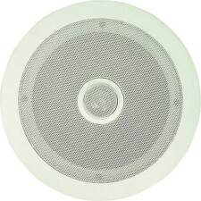 "120W CEILING SPEAKER WHITE QUALITY MOUNT in ROOF WALL 6.5"" 2-WAY 8 OHM"