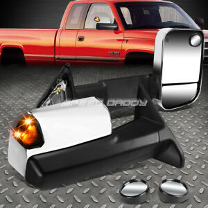 POWER SMOKED SIGNAL TOWING SIDE TOW+CIRCLE BLIND SPOT MIRROR FOR 09-12 DODGE RAM