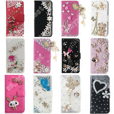 Flip Leather Stand Card Crystal Wallet Case Magnetic Cover For iPhone 6 7 8 Plus