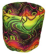 Neon Rainbow Swirl Waves Balaclava Face Mask Magic Scarf Multi Function Headwear