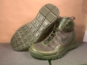 Nike Men's LUPINEK Basketball Shoes FLYKNIT CARGO KHAKI/SEQUOIA US Size 10.5