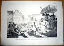 Grandville - Desperet. Lithographie. La Caricature 1834. Perroquet, Thiers