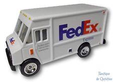 "FedEx Express Die-Cast Metal Toy Step Van Delivery Truck Scale 1:64 - 3"" Length"
