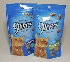 9 Lives Cat Treats One Ocean Medley Soft One Chicken & Turkey Crunchy 2.1 oz ea