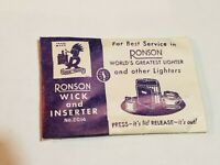 1 Pack of Vintage Ronson Lighter Wicks with Inserter, NOS