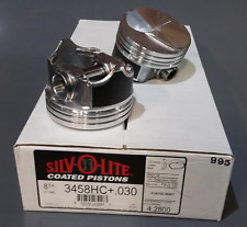 Chevy Mercruiser Marine 7.4L 454 Silvolite Hypereutectic Coated Piston Set .030