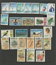 25 Individual MUH Stamps from Solomon Islands. See Photos & Values Below.
