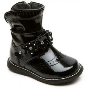 LELLI KELLY FLORENCE GIRLS INFANT BLACK PATENT LEATHER CHILDRENS KIDS ANKLE BOOT
