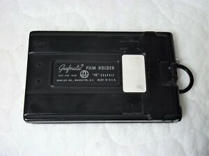 "Graflex Grafmatic ""45"" Graphic 4x5 Cut Sheet Film Holder w/ 6 Septums, functions"