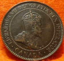 1904 XF CANADA LARGE CENT Edward VII COIN NoRes CANADIAN High Grade!--<