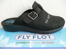Fly Flot Ladies Slippers House Shoes Black New