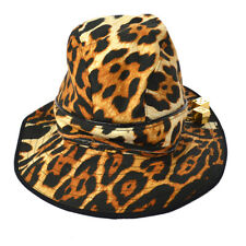 0de551ce Authentic Christian Dior Leopard Pattern Hat Beige #58 Cotton Vintage  AK27977